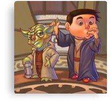 Two of a Kind...Jedi! (Digital illustration) Canvas Print