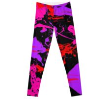 Pink And Purple Paint Splash Leggings