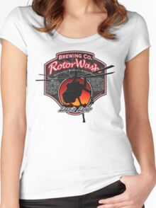 RotorWash Brewing Co. - Lean'n Lager Skycrane Women's Fitted Scoop T-Shirt