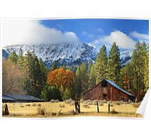 Autumn Barn At Thompson Peak Poster