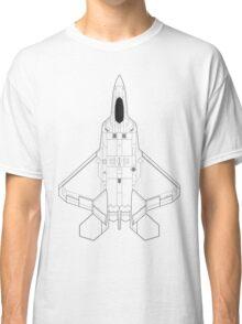 Lockheed Martin F-22 Raptor Blueprint Classic T-Shirt