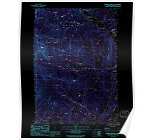 USGS Topo Map  Vermont VT Sterling Mountain 337664 1986 24000 Inverted Poster