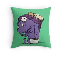 The Monster Under Your Bed Throw Pillow