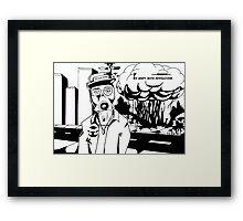 Revolution Black and white Framed Print