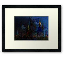 ©DA Fractal Sunset AI Framed Print