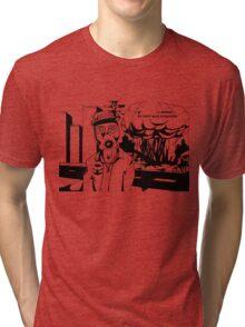 Revolution Black and white Tri-blend T-Shirt