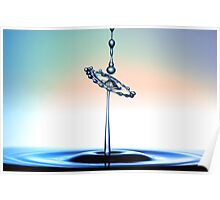 Water droplet collision Poster