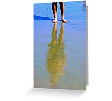 Reflection In The Sand 2 Greeting Card