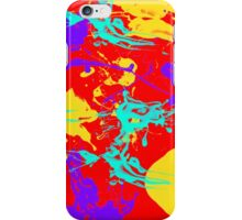 yellow and purple paint splash iPhone Case/Skin