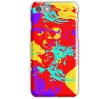 yellow and purple paint splash iPhone Case/Skin