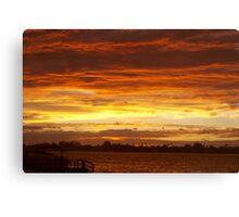 Bands of copper and gold Canvas Print