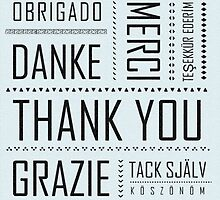 Multi-Language Thank You Card  by RumourHasIt