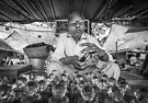 Jaipur market perfume oil seller by Heather Buckley