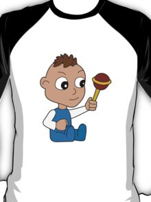 Cartoon baby playing with toy T-Shirt