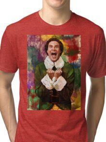 Elf - SANTA'S COMING! Tri-blend T-Shirt
