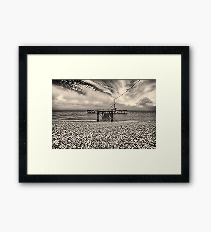 Old Jetty - Isle of Wight Framed Print