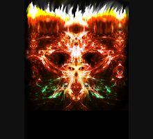 Fractal Flame Skull Unisex T-Shirt
