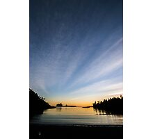 BeachDusk0, British Columbia landscape Photographic Print