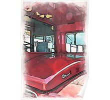 London Bus - 3 Poster