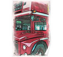 London Bus - 1 Poster