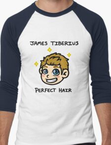 Captain James Tiberius Perfect Hair Men's Baseball ¾ T-Shirt