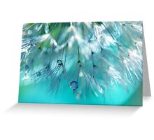 Turquoise Dandy Delight Greeting Card