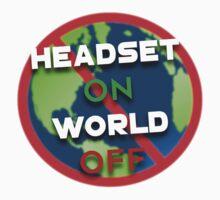 HEADSET ON, WORLD OFF Kids Tee