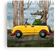 Wolf Driving Canvas Print