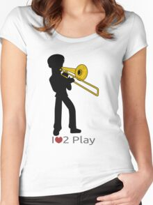 Trombonist silhouette Women's Fitted Scoop T-Shirt