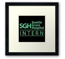 Grey's Anatomy - Intern Framed Print