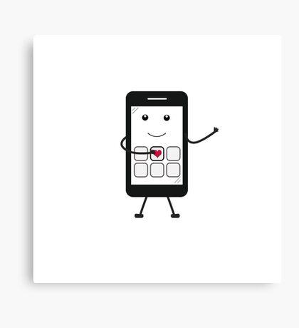 Friendly Smartphone Canvas Print