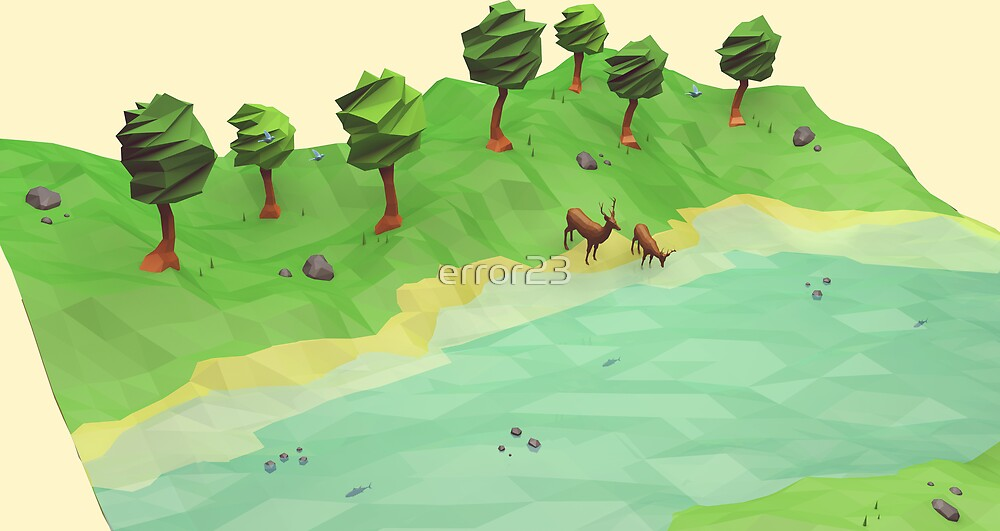 Down River (Low Poly) by error23