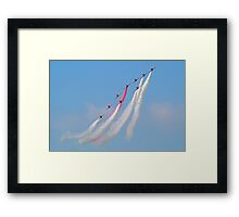Hey Mr Blue Sky !! - The Red Arrows - Dunsfold 2013 Framed Print