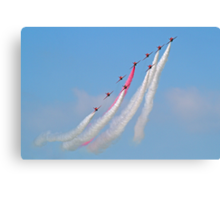 Hey Mr Blue Sky !! - The Red Arrows - Dunsfold 2013 Canvas Print