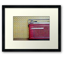 « My great Grandmother is listening to the radio » Framed Print
