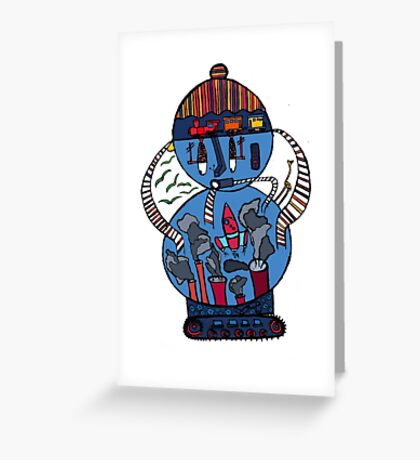 Tank of the world Greeting Card