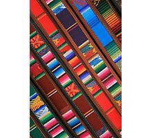 Angled Handmade Belts in the Market Photographic Print