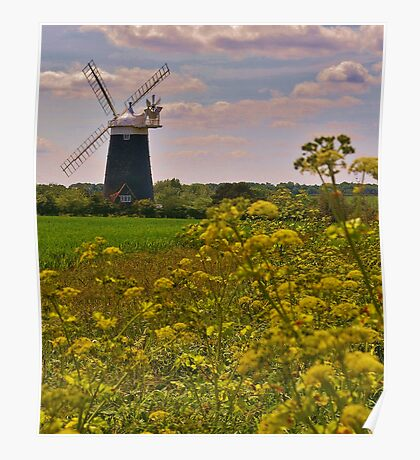 Tower Mill (Burnham Overy Staithe, UK) Poster
