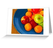 Fresh Fruit Pastel Greeting Card
