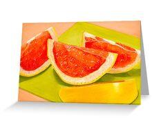 Fruit Picnic Pastel Greeting Card