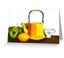 Fruit Tea Pastel Greeting Card