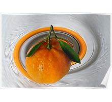 white green orange Poster