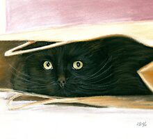 Hiding Spot Pastel by AngelaBishop
