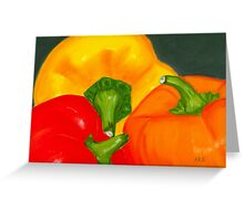 Peppers Pastel Greeting Card