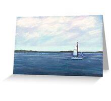 Smooth Sailing Pastel Greeting Card