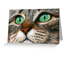 Tabby Cat Pastel Greeting Card