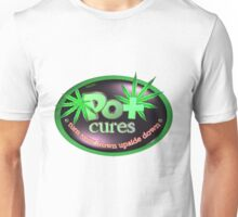 Pot cures Turn your frown upside down by Valxart.com Unisex T-Shirt