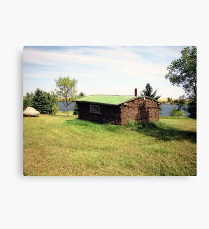 Pioneer Sod Home Canvas Print