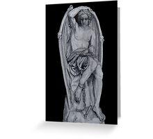 Lucifer Statue Greeting Card