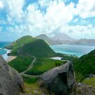 ST. KITTS BETWEEN THE ATLANTIC AND THE CARIBBEAN (CARD ONLY) by Thomas Barker-Detwiler